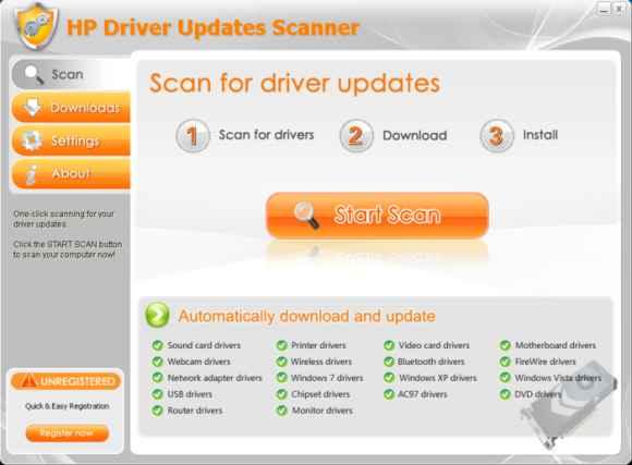 HP Driver Updates Scanner