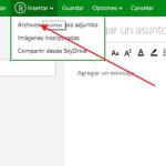 adjuntar archivos Outlook