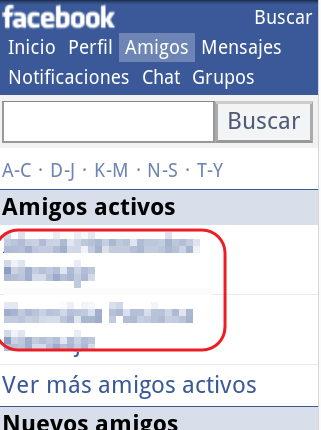 Como ver amigos conectados en facebook movil