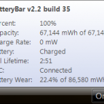 BatteryBar, un medidor de carga de batería en Windows 8