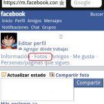 Cómo cambiar la foto de perfil en Facebook desde Opera mini