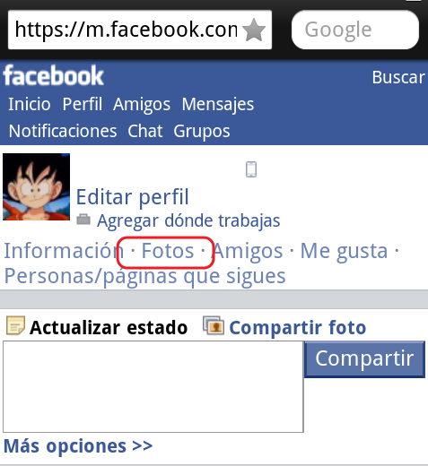 cambiar la foto de perfil en facebook  desde el celular