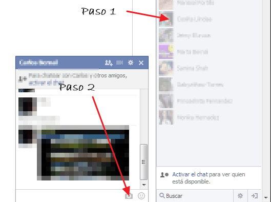 como mandar fotos facebook