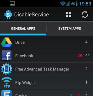 disable services