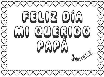 feliz dia te quiero mucho padre