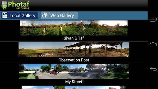 fotos panoramicas android