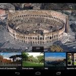 Aplicación de Google Earth para tabletas