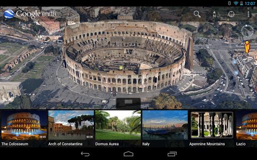 google earth tabletas