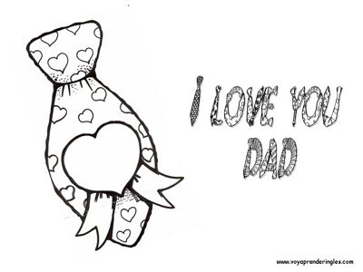te quiero padre en blanco y negro