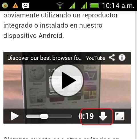 descargar videos de yoube desde opera