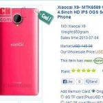 Xiaocai X9, celular como el Galaxy S4 pero a menos de 100 dolares
