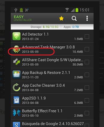 apps instaldas en android