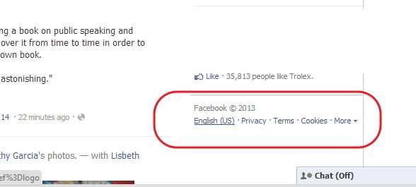 facebook en ingles
