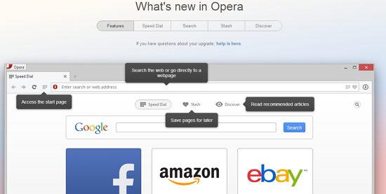 nuevo opera navegador