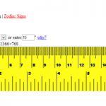Regla online para medir en la pantalla