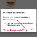 Saber si una persona me ha bloqueado en Facebook