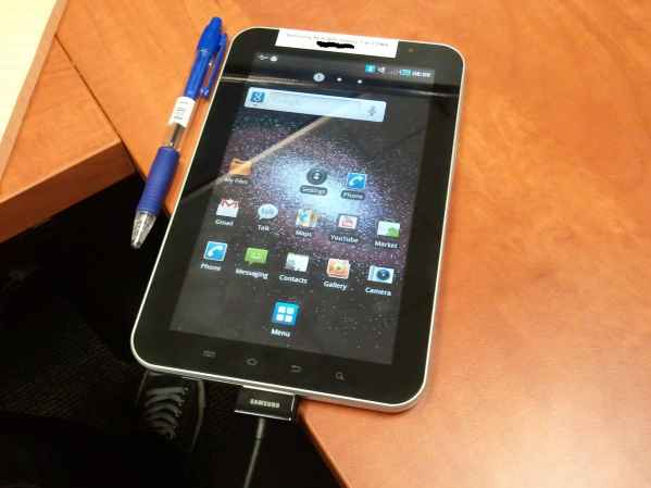 Samsung Galaxy tab parpadeo de pantalla