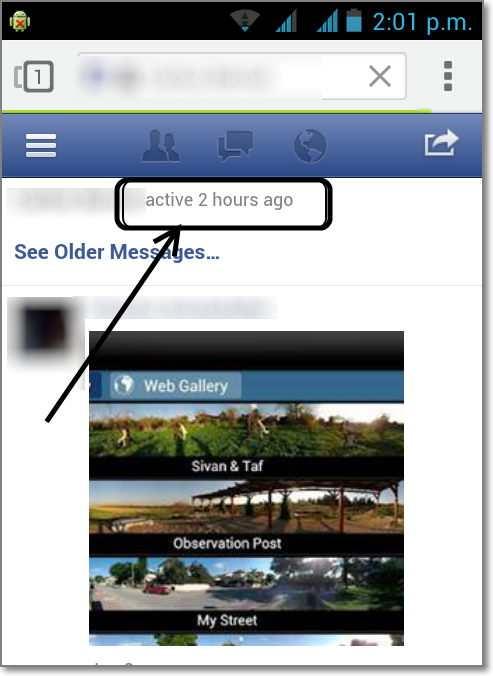 amigo activo hace facebook