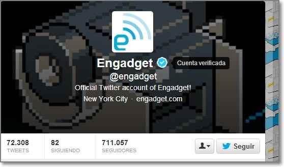 cuenta verificada en twitter