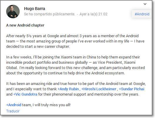 empresa china contrata a empleado de Google