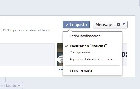 mostrar noticias facebook