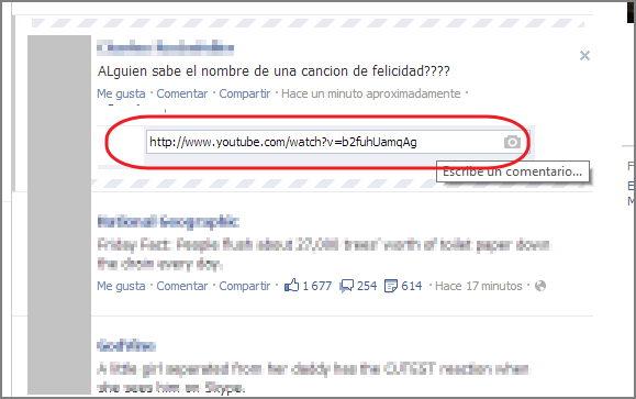video en un comentario