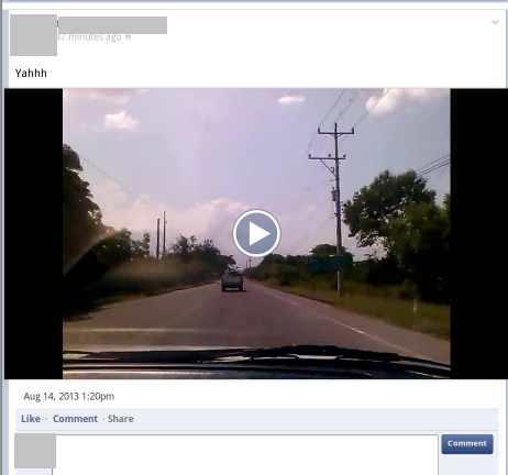 video publicado desde el celular