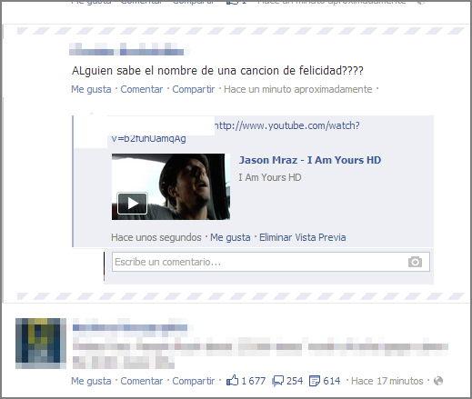 videos en un comentario en fb