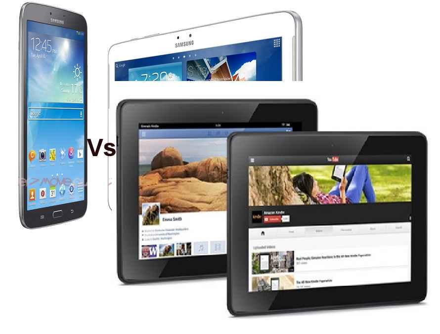 Galaxy tab 3 vs kindle fire hdx