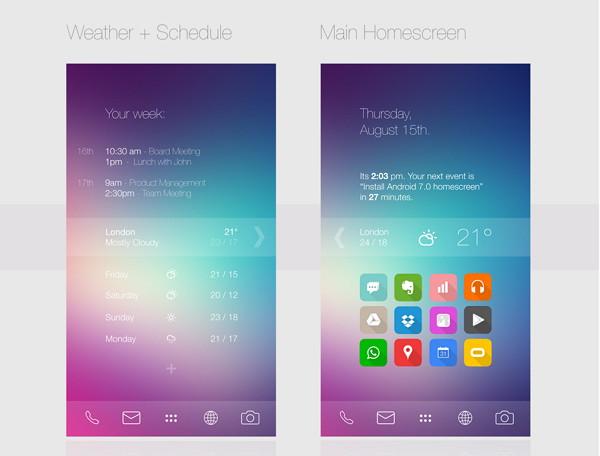 iOS 7 apareencia en android
