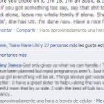 Reportar un comentario como ofensivo en Facebook