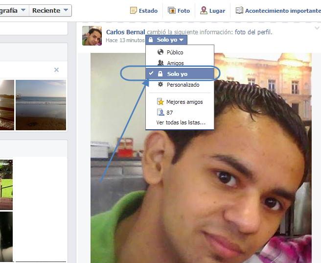 cambiar foto de perfil en facebook 2