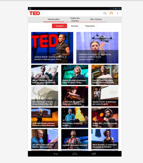 ted para Android app