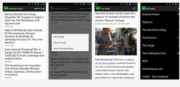 App de AOL reader en Android