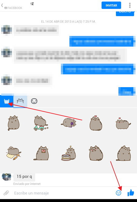 Emoticones para Facebook Messenger