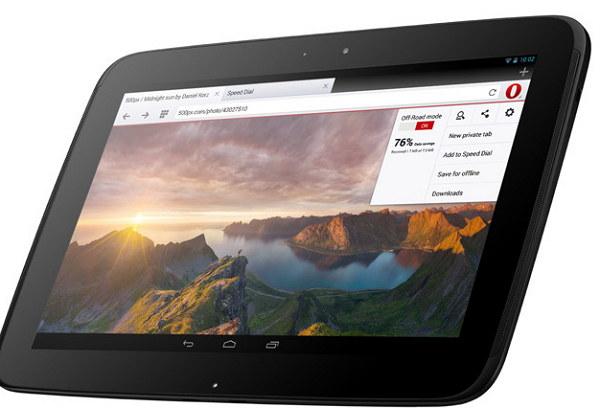 Navegador para tablets Android