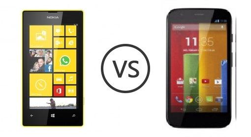 Nokia Lumia 520  vs Motorola moto G