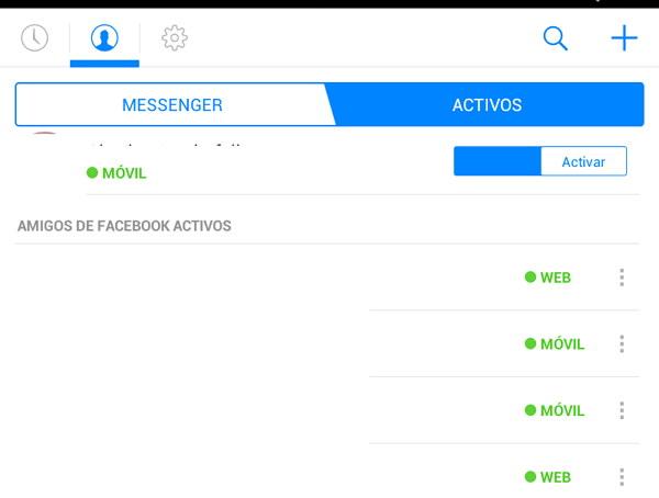 Ver a los que estan conectados en el Messenger3