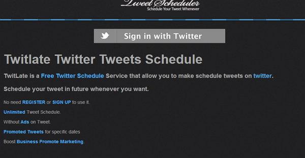 programar un tweet