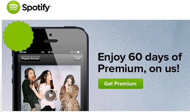 spotify gratis 60 dias