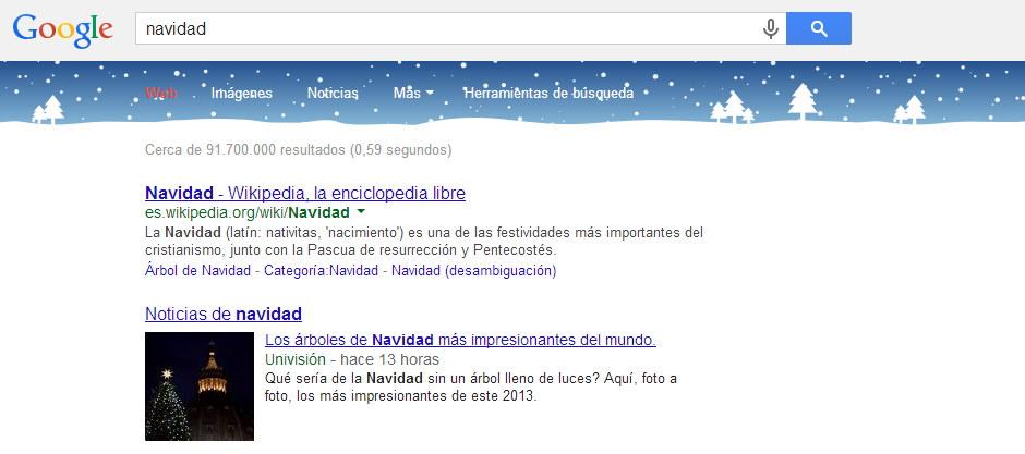 Navidad en Google