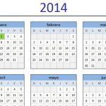 Calendario 2014 para imprimir en español