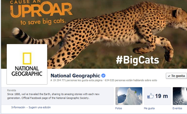 National Geographic Facebook