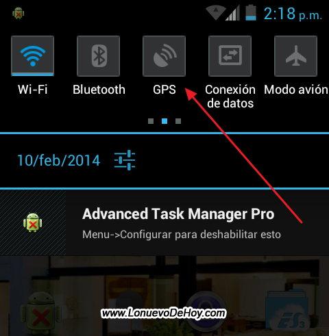 Desactivar GPS en Android