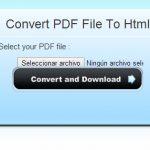 convertpdftohtml, Convertir de PDF a HTML Online
