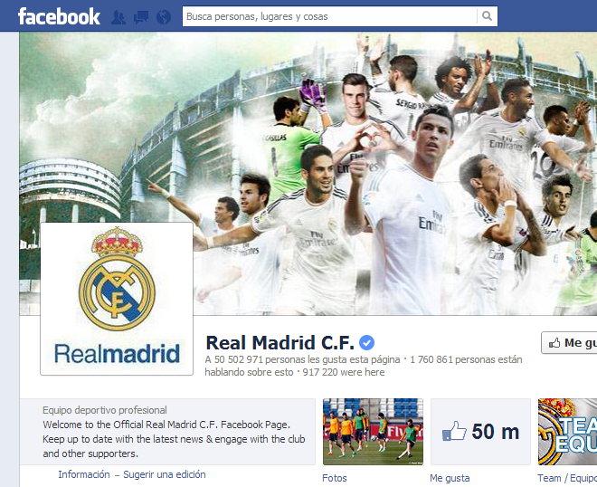 Real Mandrid Oficial en Facebook