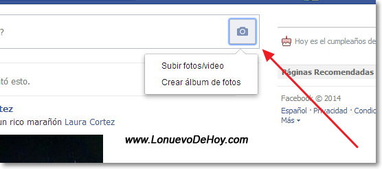 Subir Fotos a Facebook 2014