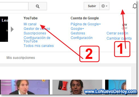 Canales no visibles en youtube