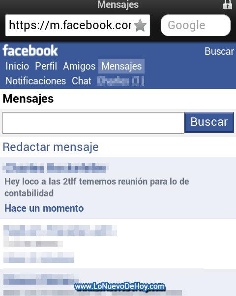 Marcar un mensaje como no leido en facebook