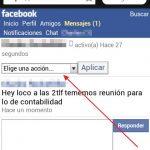 Marcar un mensaje como no leido en Facebook desde el celular